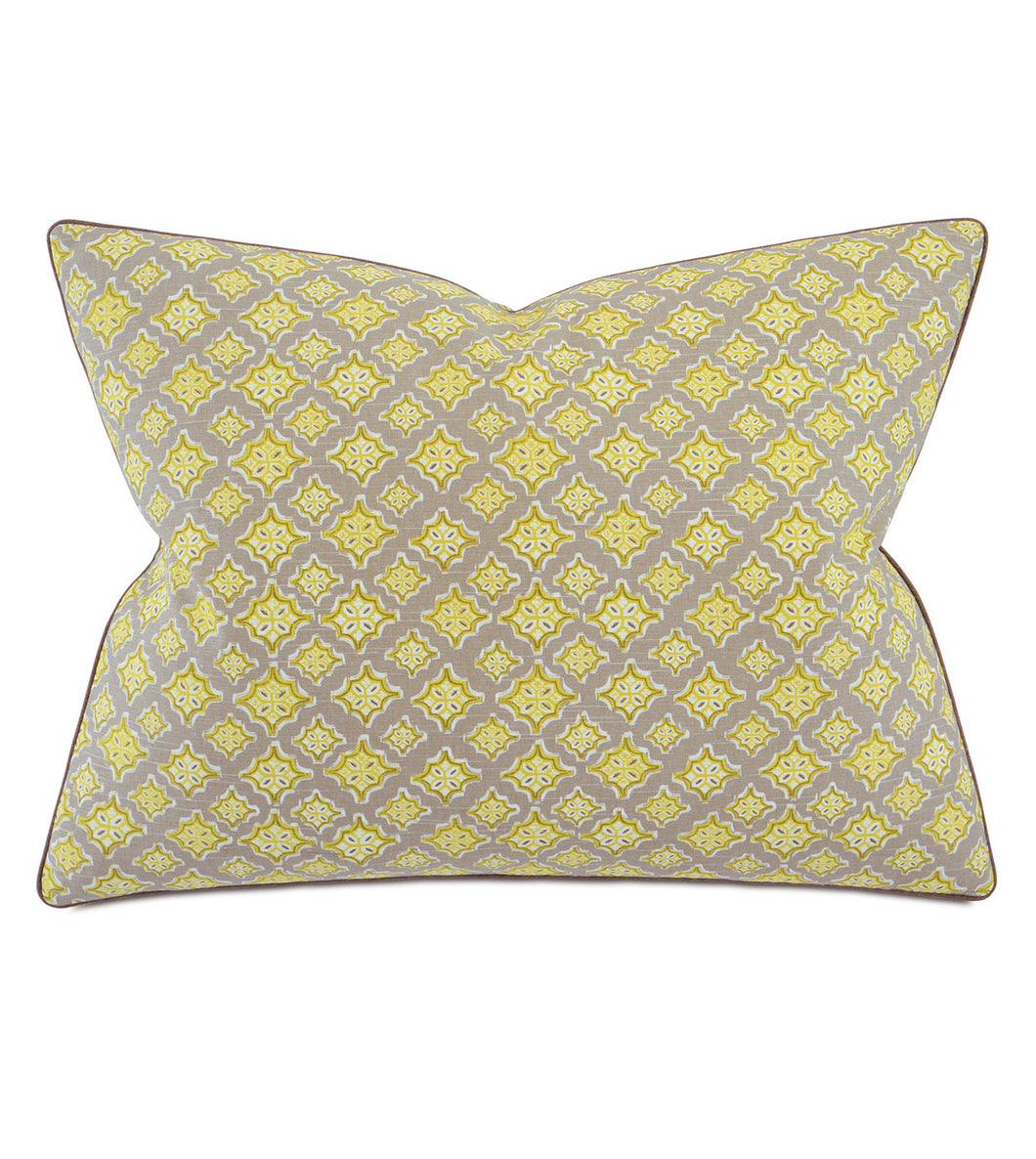 Yellow Mountain Resort Geometric Cotton Standard Sham With Welt 20