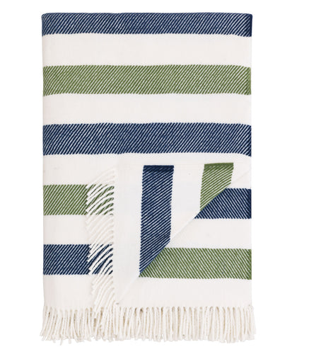 Jewel Tone Stripe Rustic Cotton Blend Throw With Tassels