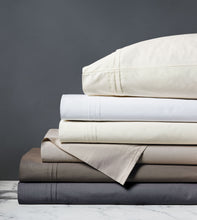 Vail White Luxury Fine Linen Pleated Percale Sheet Set