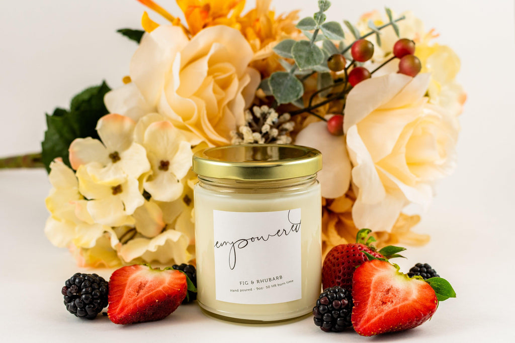 Soy candle with cotton wick Soy candle with essential oil