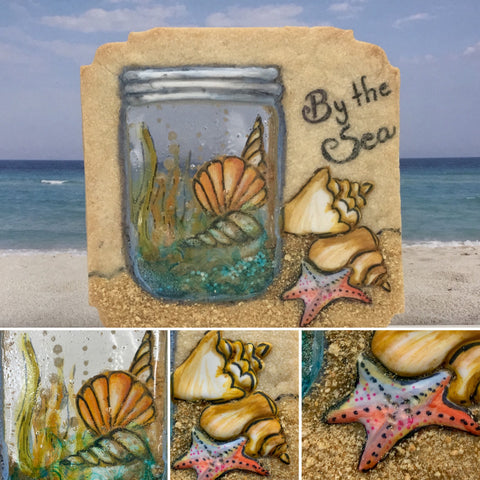 Learn to make beach themed mason jar shaker cookies at The Ultimate Sugar Show in Atlanta, GA.