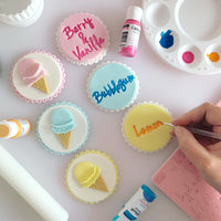 How to decorate cakes using Sweet Stamp & Edible Art Paint