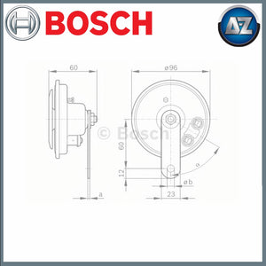 GENUINE BOSCH AIR HORN 0986320111