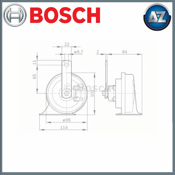 GENUINE BOSCH AIR HORN 0986AH0503