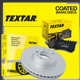 92266025 92266125 2443601 Textar Front Left Right Vented Brake Discs Pads