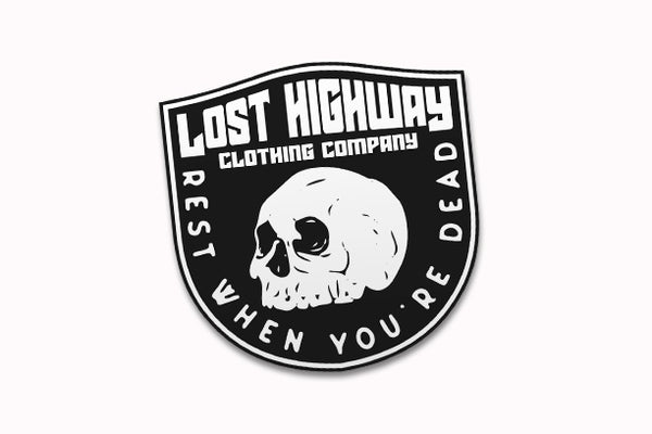 Rest When You're Dead Sticker