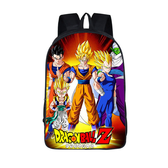 DBZ Goku Vegeta Poster Style Awesome School Backpack Bag - SaiyanBall