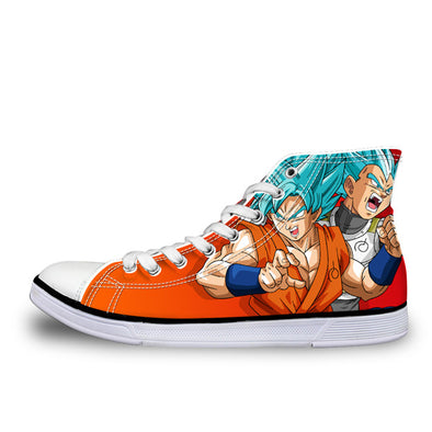 Goku Super Saiyan God Blue  Converse Style Sneaker Shoes - SaiyanBall