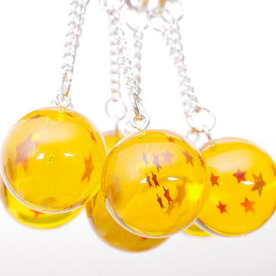 Set 2.7cm Dragon ball z crystal balls keychain - SaiyanBall
