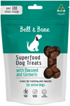 healthy natural australian made dog treats, flaxseed and turmeric superfood puppy treats