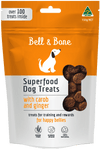 healthy natural australian made dog treats, carob and ginger superfood puppy treats