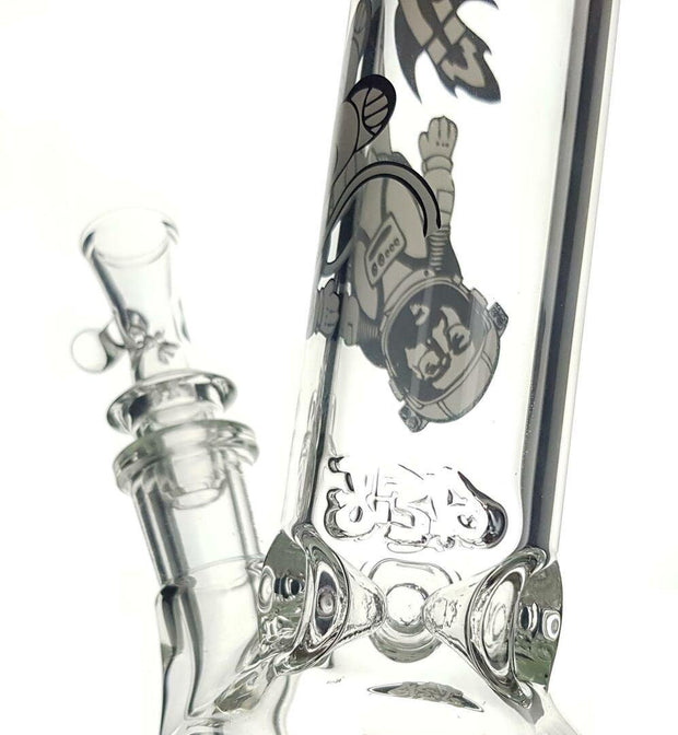 "Jerome Baker - 13'' Double Bubble ""Cosmic Jerry"" Water Pipe"
