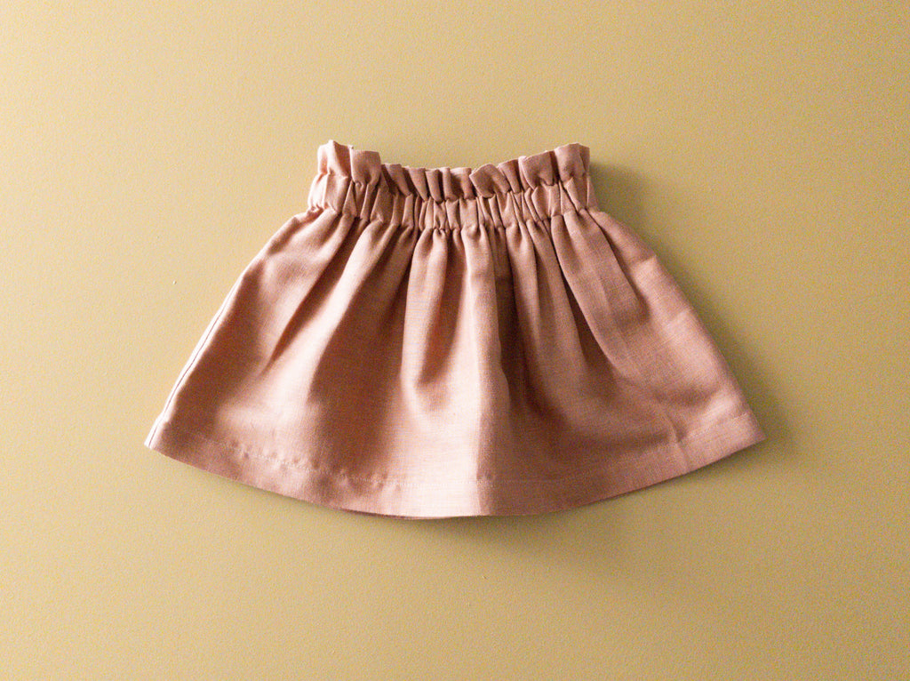 Bag-waist Skirt | Rosewood