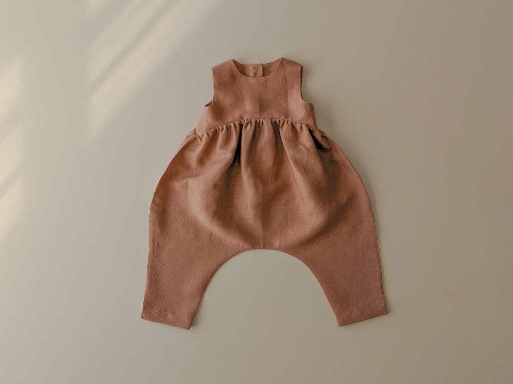 Billow Romper | Rosewood