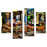 4 Picture Canvas Paintings New Yorks Times Square