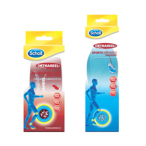 Scholl Bundles Orthaheel Sports & Regular Orthotics Pack, Medium