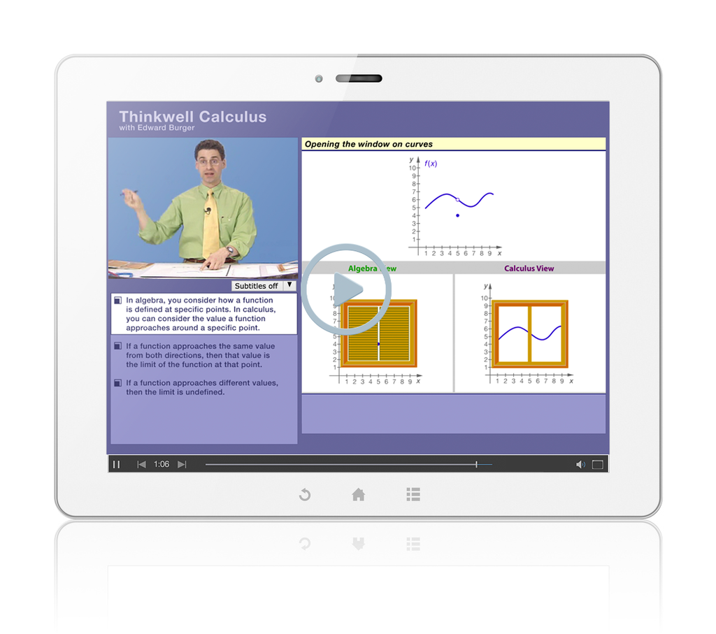 Sample of Thinkwell's AP Calculus AB videos