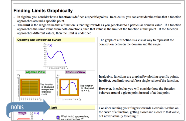 Sample of Thinkwell's AP Calculus AB book