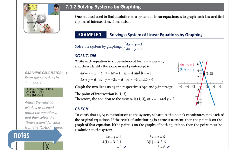 Sample of Thinkwell's College Algebra book