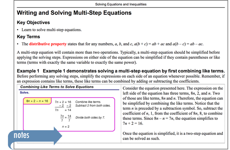 Sample of Thinkwell's Pre-algebra book