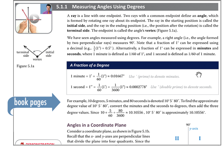 Sample of Thinkwell's Precalculus book