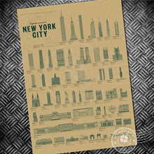 New York Retro Drawings Poster