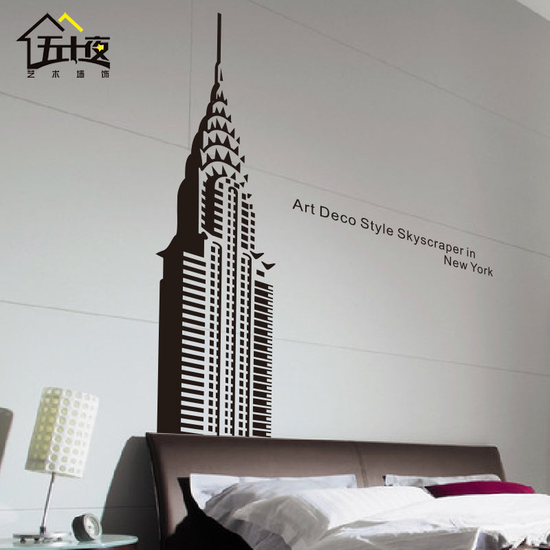 Empire State Building Mirror/Wall Decal