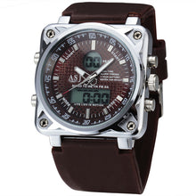 Square Dual Display Military Watch