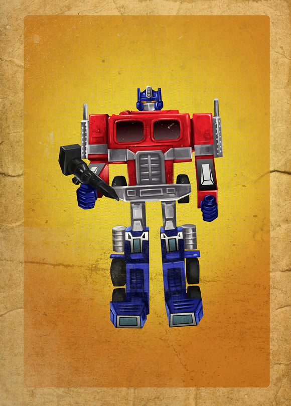 80s Toys Greeting Cards - Optimus Prime