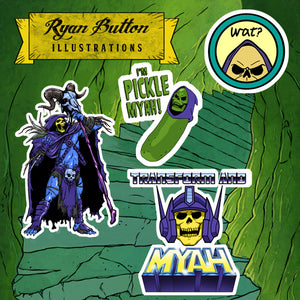 Skeletor Sticker Pack