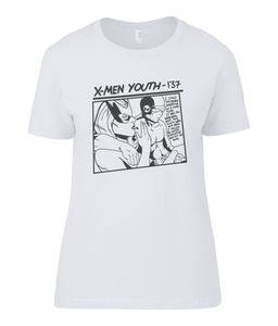 Ladies Basic T-Shirt  X-Men Youth White