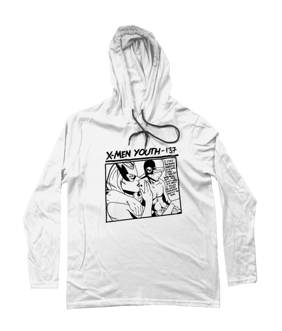 Basic Long Sleeve Hoodie X-Men Youth White