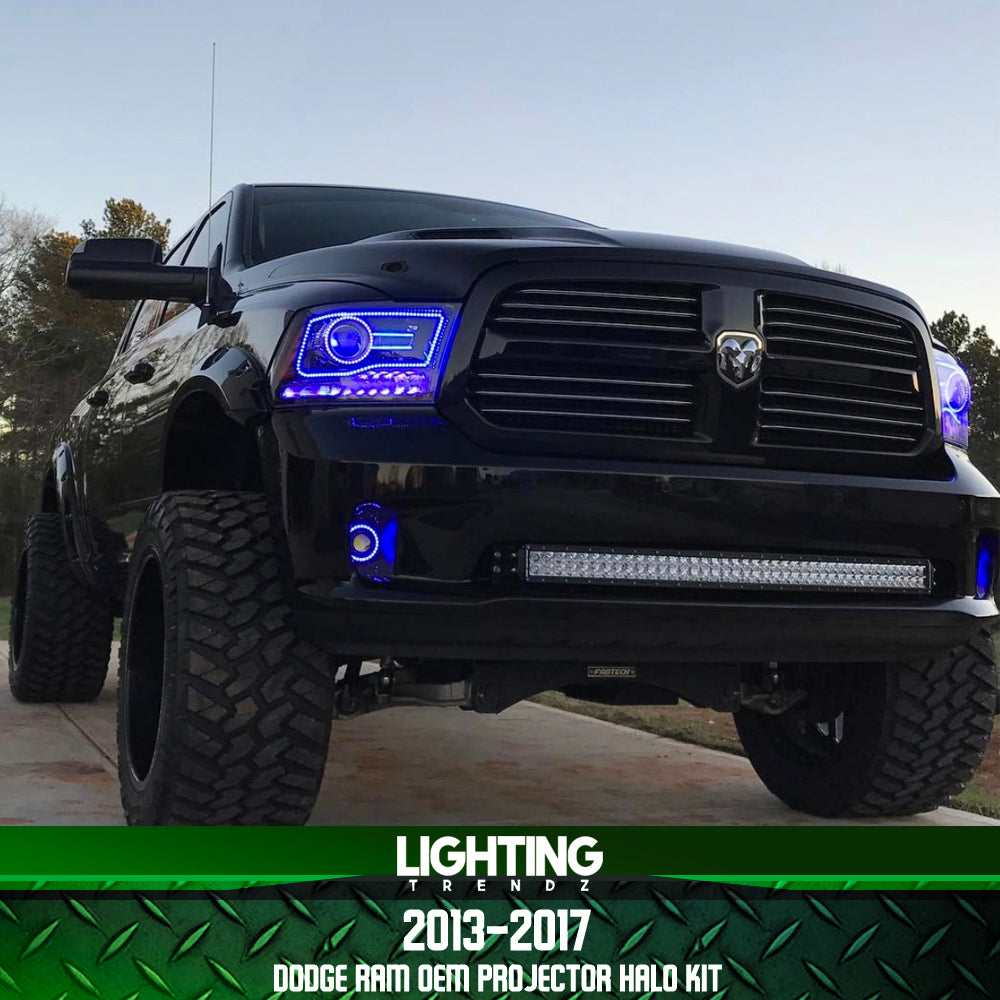 2013-2018 Dodge Ram OEM Projector Halo Kit