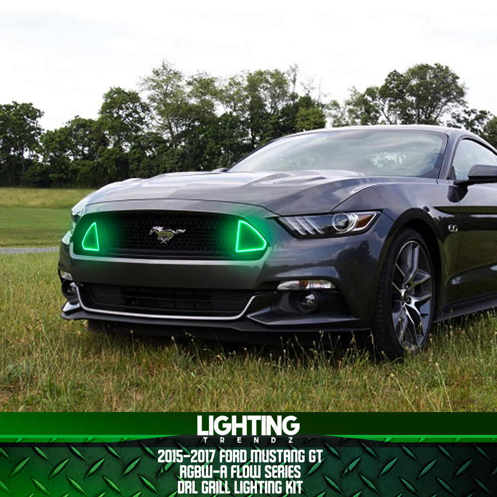 2015-2017 Ford Mustang GT DRL Waterproof Grill Lighting Kit (RGBW-A / Flow Series)