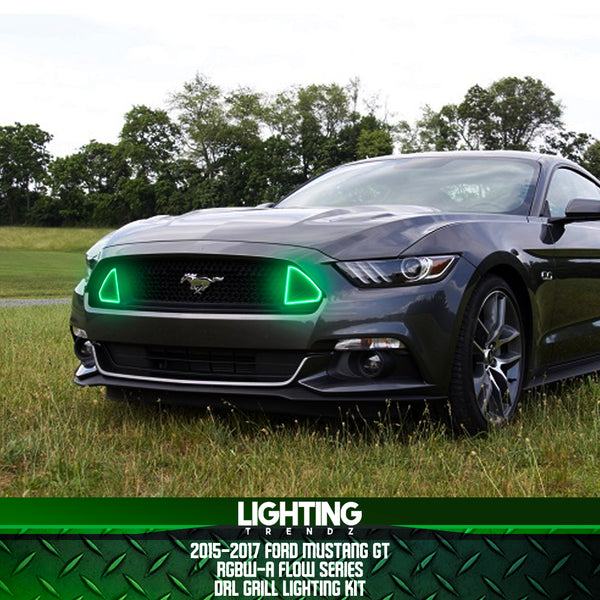 2015 2017 ford mustang gt drl waterproof grill lighting kit rgbw a lightingtrendz lightingtrendz