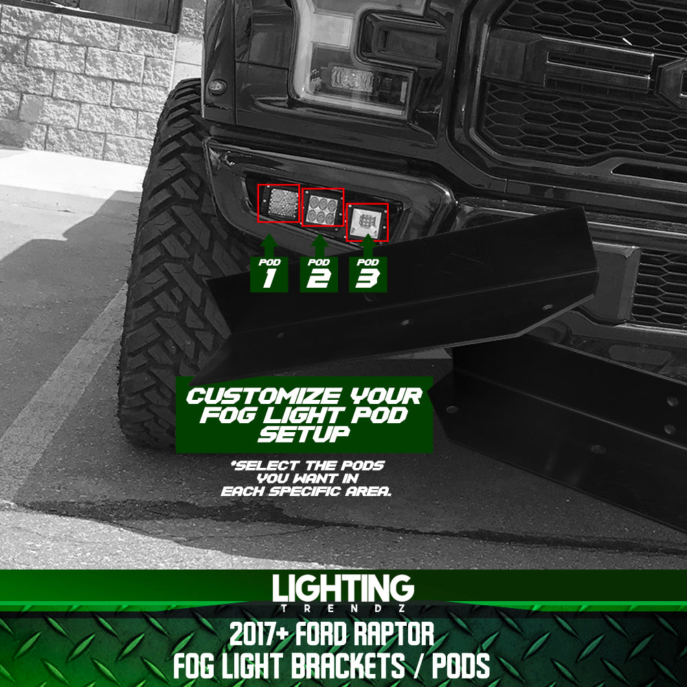 2017+ Ford Raptor Fog Light Brackets / Pods