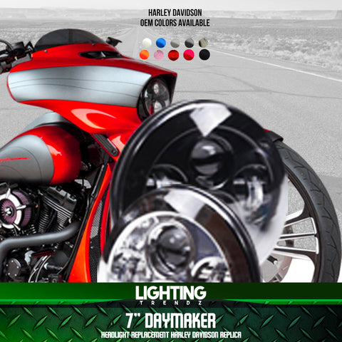 "7"" Daymaker Headlight Replacement Harley Davidson Replica"