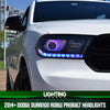 Image of 2014+ Dodge Durango RGBW Prebuilt Headlights