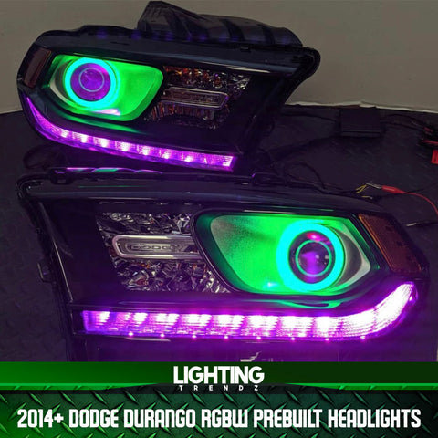 2014+ Dodge Durango RGBW Prebuilt Headlights