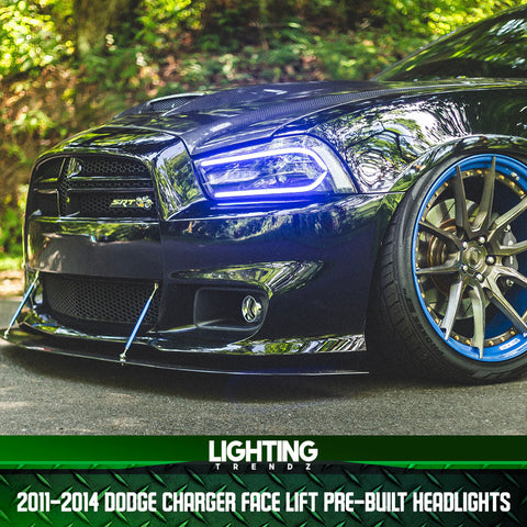 2011-2014 Dodge Charger Face Lift Pre-Built Headlights