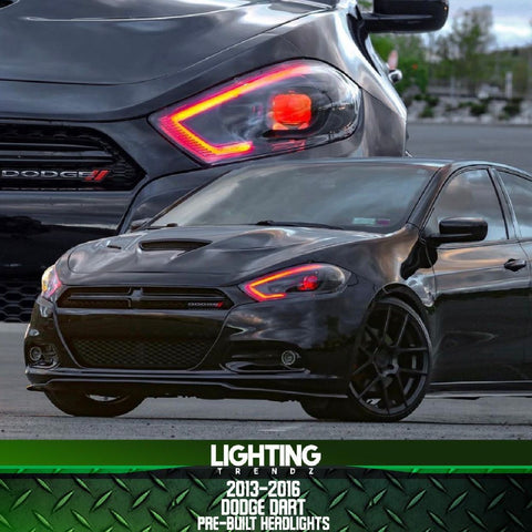 2013-2016 Dodge Dart Pre-Built ACANII Headlights