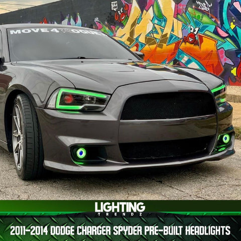2011-2014 Dodge Charger Spyder Pre-Built Headlights V2