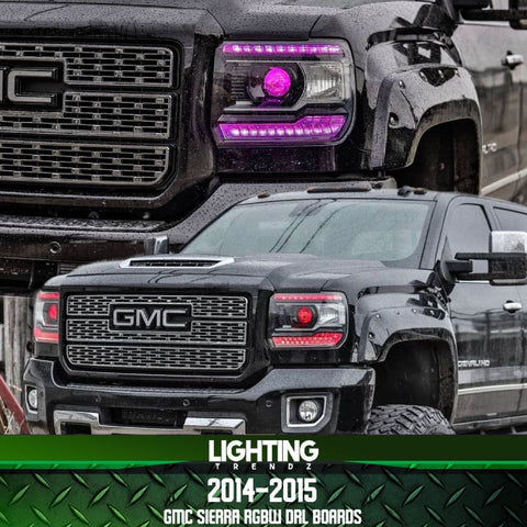 2014-2015 GMC Sierra RGBW+A DRL Boards