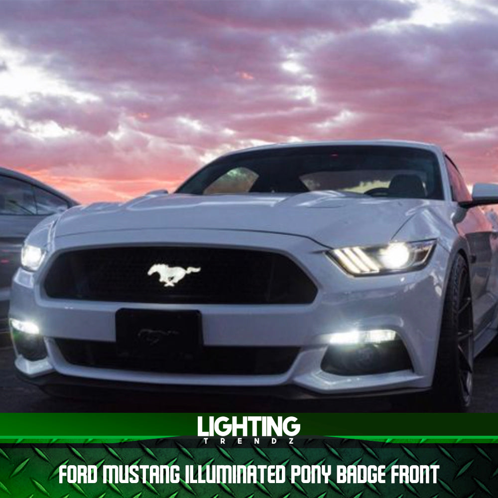 FORD MUSTANG ILLUMINATED PONY BADGE FRONT