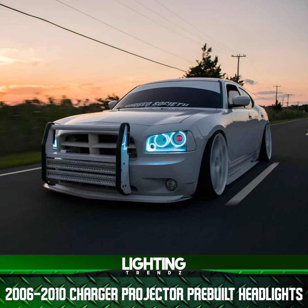 2006-2010 Dodge Charger Projector Pre-Built Headlights