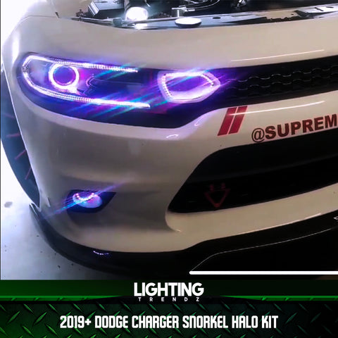 2019+ Dodge Charger Waterproof Snorkel Halos