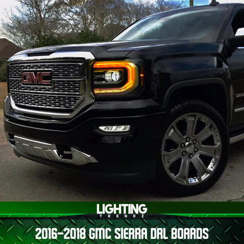 2016-2018 GMC Sierra RGBW+A DRL Boards