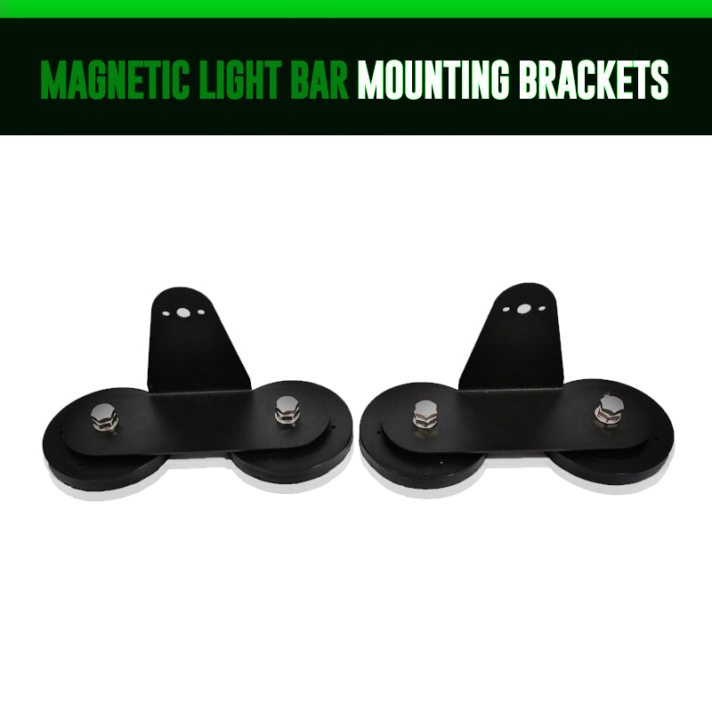 Magnetic light bar mounting brackets lightingtrendz magnetic light bar mounting brackets aloadofball Image collections