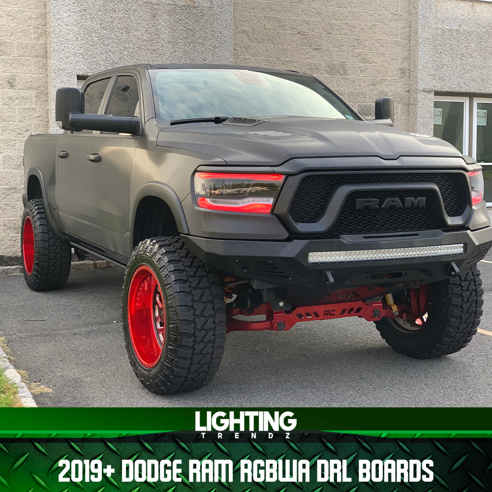 2019 Dodge Ram RGBWA DRL Boards