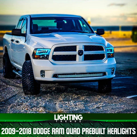 2009-2018 Dodge Ram Quad Pre-Built Headlights